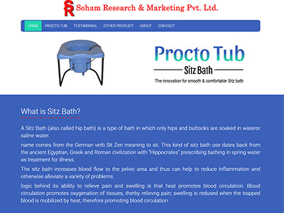 Procto tub sitz bath website
